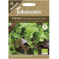 Johnsons Organic Lettuce Red and Green Salad Bowl Seeds