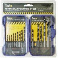 15pce Wood Working Drill Bit Set Blu Cas