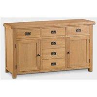 Cotswold Sideboard Oak 2 Door 6 Drawer