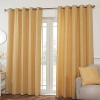 Hamilton McBride Miami Eyelet Curtains Yellow 90 x 90cm