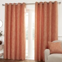 Hamilton McBride Miami Eyelet Curtains Orange 66 x 72cm