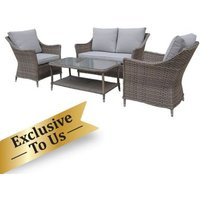 Arles Conservatory Garden Patio Furniture Set - 4 Pieces