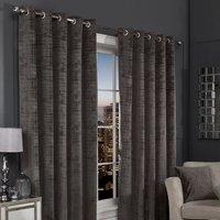 Hamilton McBride Charcoal Florence Blackout Eyelet Curtains (66