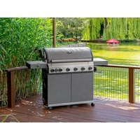 Grillstream Stainless Steel Classic 6 Burner Hybrid Gas / Charcoal BBQ