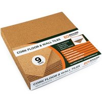 9 Pack Boulder Developments Cork Tiles