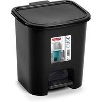 7.5L Black Pedal Bin Cube