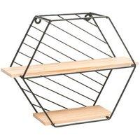 Hexagon Shaped Wall Shelf