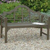 Lutyens Style Garden Bench Grey