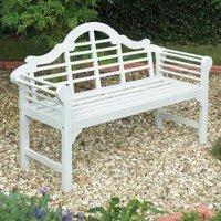 Lutyens Style Garden Bench White