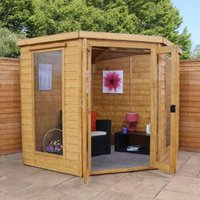 Mercia 7 x 7 Double Door Shiplap Corner Summerhouse