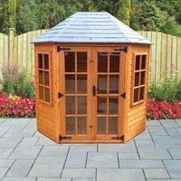 Albany Sheds Oakdale 8 x 6 Octagonal Shiplap Wood Garden Summer House