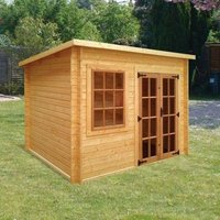 Albany Sheds Charnwood 12 x 8 Pent Wood Garden Summer House