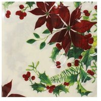 Christmas Lunch Napkin 25 Pack - Flowers
