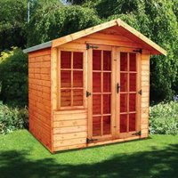 Albany Sheds Clipston 7 x 5 Apex Shiplap Wood Garden Summer House