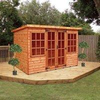 Albany Sheds Farndon 10 x 6 Pent Shiplap Wood Garden Summer House