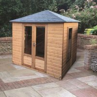 Albany Sheds Windsor 8 x 6 4-sided hipped Shiplap Wood Garden Summer House