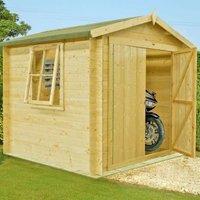 Shire Bradley Untreated 19mm Garden Log Cabin 8 x 8