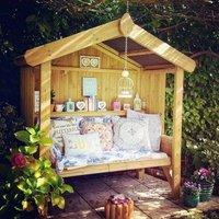 Croft Cottage 3 Seat Enclosed Garden Arbour