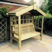 Croft Cottage 3 Seat Trellis Garden Arbour