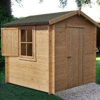 Shire Camelot 19mm Garden Log Cabin 7 x 7