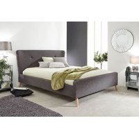 Carnaby Upholstered Double Bed Frame Grey