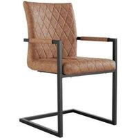 Urban Bauhaus Diamond Stitch Carver Dining Chair Tan