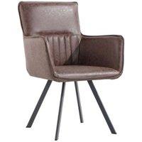 Urban Retro Carver Dining Chair Brown
