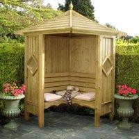 Shire Classic Corner Garden Arbour 4 x 4