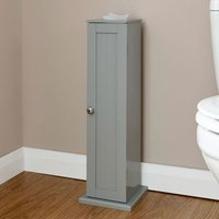 Colonial Slim Cabinet Grey 1 Door 2 Shelf