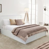 Como Single Ottoman Bed White
