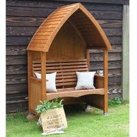 AFK Premium Cottage Arbour Beech Stain 2 Seat