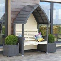 AFK Premium Cottage Arbour Charcoal and Cream 2 Seat