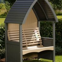 AFK Premium Cottage Arbour Charcoal and Nutmeg 2 Seat