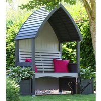 AFK Premium Cottage Arbour Charcoal and Stone 2 Seat