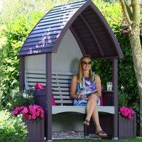 AFK Premium Cottage Arbour Lavender and Stone 2 Seat