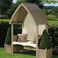 AFK Premium Cottage Arbour Nutmeg and Cream 2 Seat