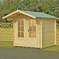 Shire Crinan Garden Log Cabin 19mm 7 x 7