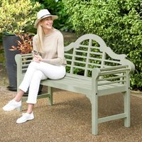 Lutyens Style Painted Bench Sage Green