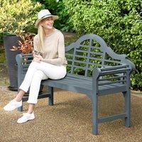 Lutyens Style Painted Bench Slate Grey