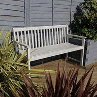 Bentley FSC Acacia White Washed Wooden Garden Bench