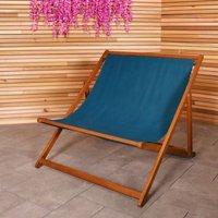 Charles Bentley FSC Eucalyptus Hardwood Double Deck Chair