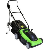 Electric Wheeled Garden Lawnmower with Collection Bag