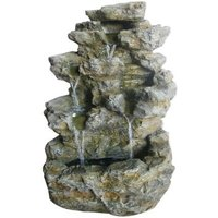 Stone Effect Large Garden Water Feature White LEDs