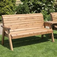 Charels Taylor 4 Seat Straight Tete-a-tete Garden Bench and Table