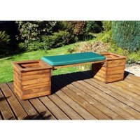 Charles Taylor Deluxe 2 Seat Planter Bench - Green Cushion