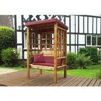 Charles Taylor Bramham 2 Seat Arbour With Burgundy Cushion