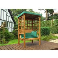 Charles Taylor Bramham 2 Seat Arbour With Green Cushion