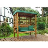 Charles Taylor Bramham 3 Seat Arbour - Green Cushions