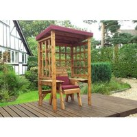 Charles Taylor Wentworth Single Seat Arbour With Burgundy Cushion