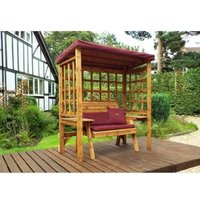 Charles Taylor Wentworth Restful 2 Seat Arbour - Burgundy Cushions